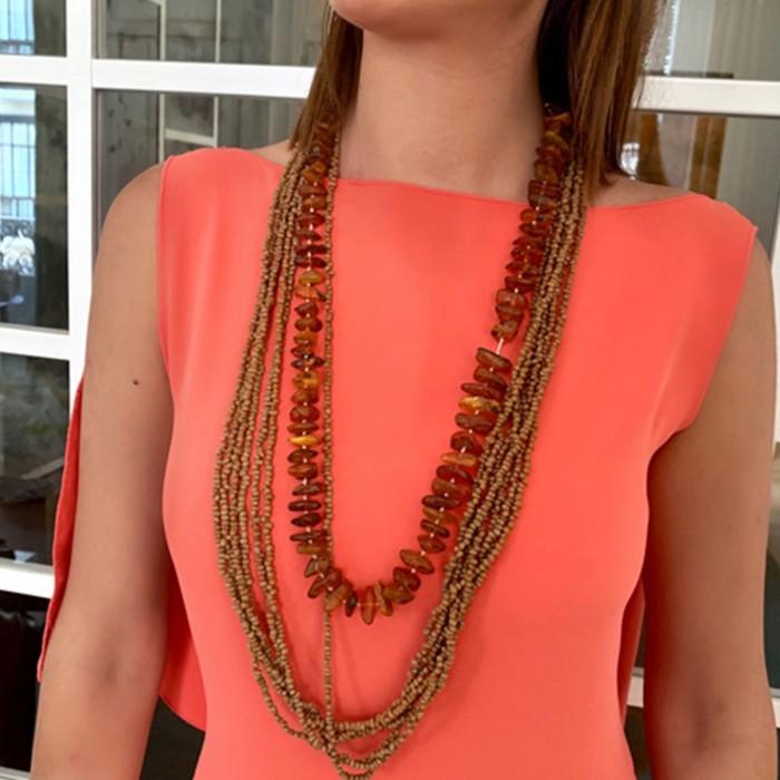 Conjunto dos collares ambar