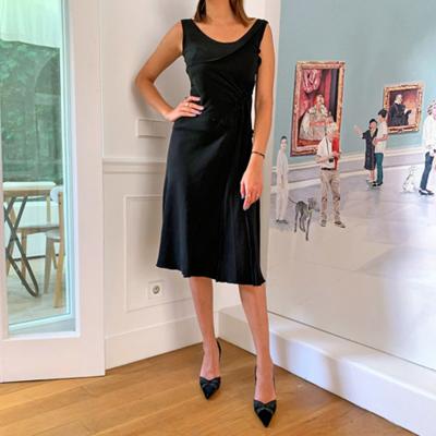 Vestido negro midi Best for less
