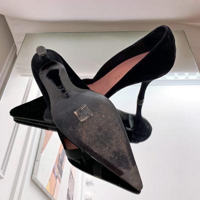Zapato tacón terciopelo