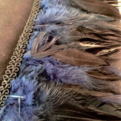 Bolso de mano plumas