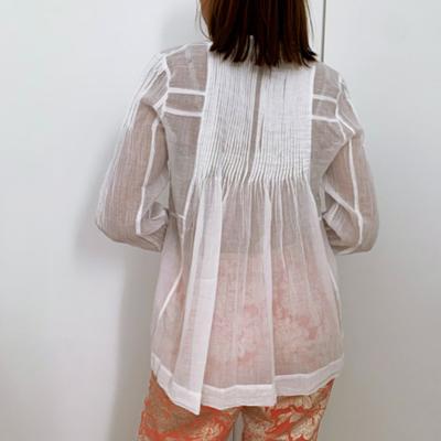 Camisa plisada