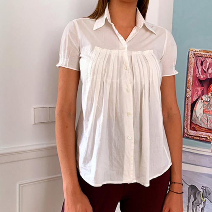 Camisa algodón blanca