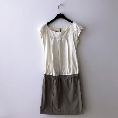 Vestido bicolor verano