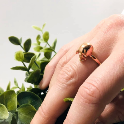 anillo calavera plata Best for less