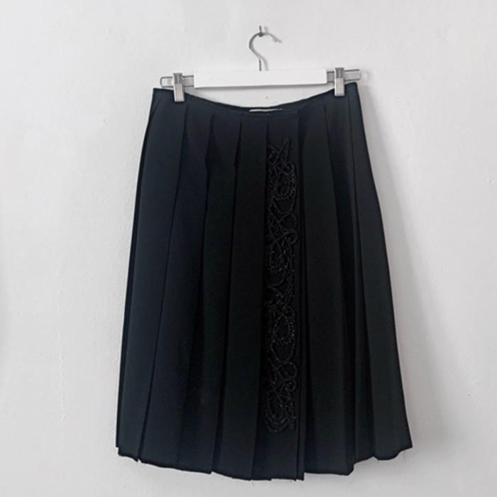 Falda de Tablas Negra Fiesta