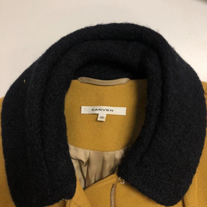 Cazadora lana mostaza