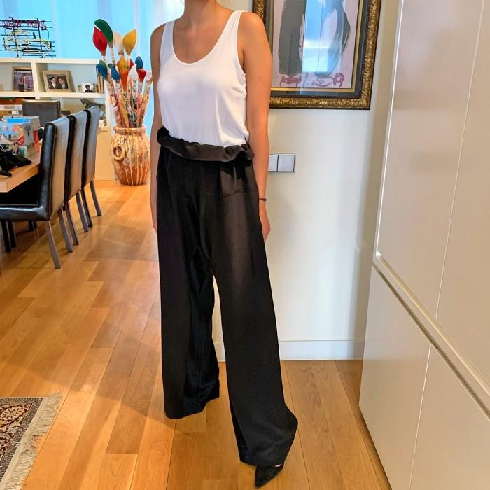 Pantalón raso negro
