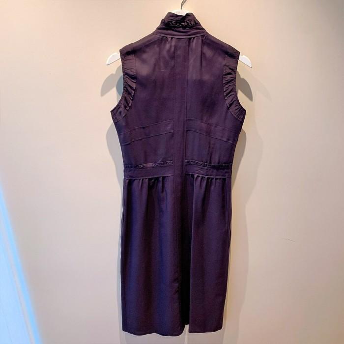Vestido midi morado Yves Saint Laurent