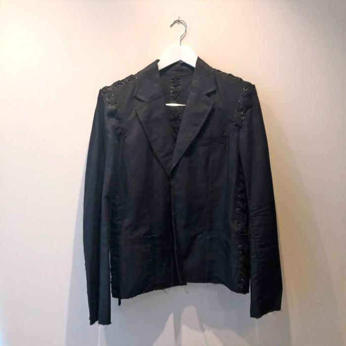 Conjunto falda y americana negra
