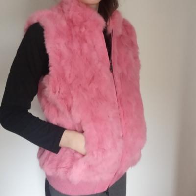 Chaleco rosa de pelo Best for less