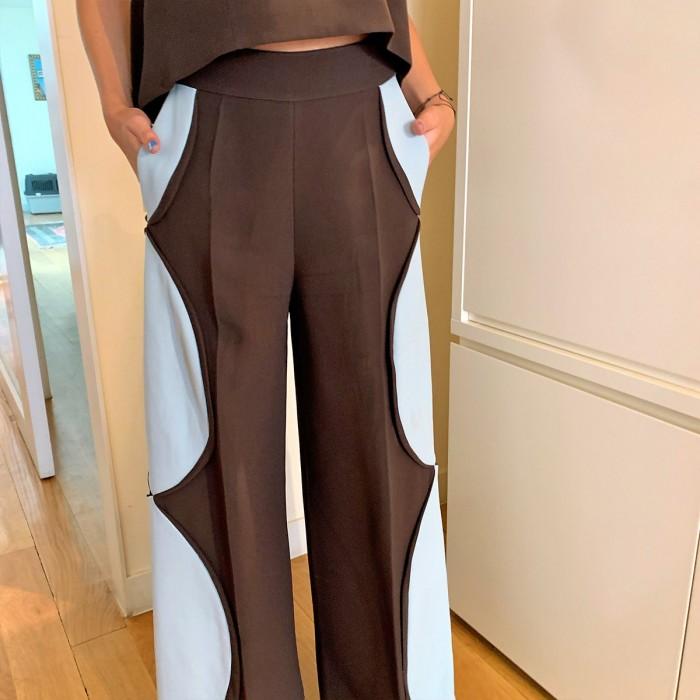 Conjunto pantalón cuerpo marrón