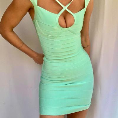 Vestido bandage verde agua Best for less