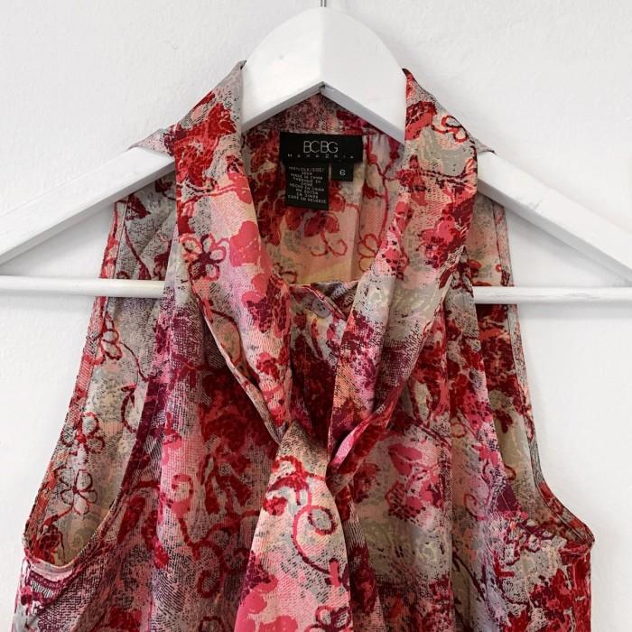Blusa seda estampado floral
