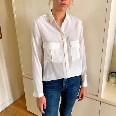 Camisa blanca popelín