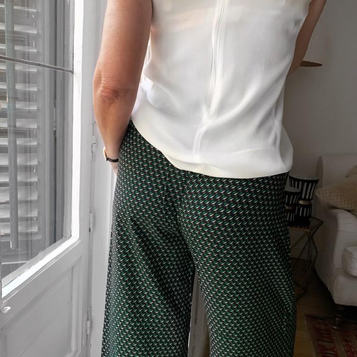 Pantalón fluido palazzo