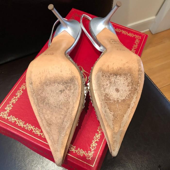 Zapato fiesta en oro y plata