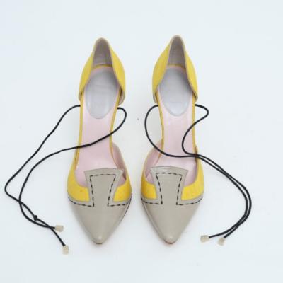Zapatos en seda y piel Best for less