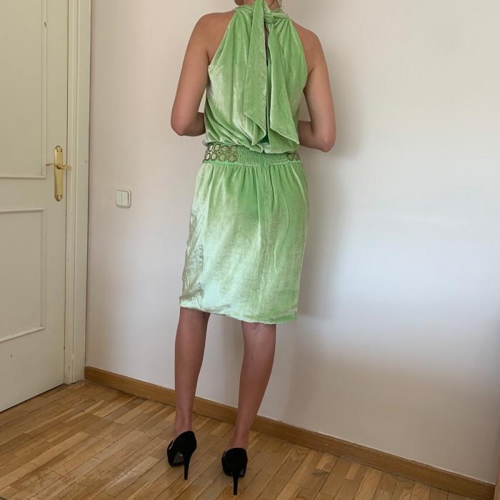 Vestido terciopelo verde