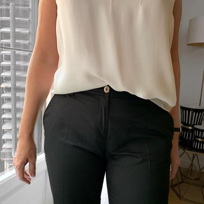 Pantalón traje negro