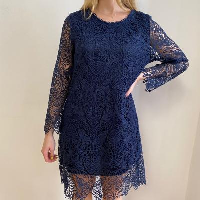 Vestido Crochet Azul