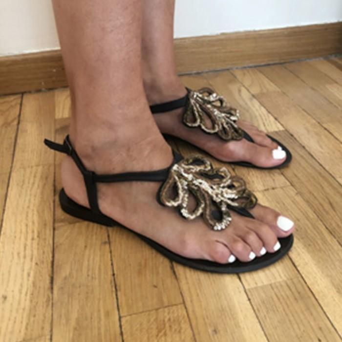 Sandalias con detalle frontal
