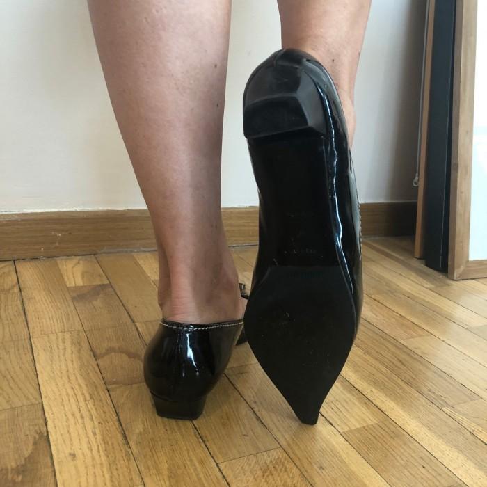Zapato charol tacón 2 cms