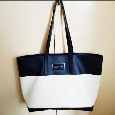 Bolso Shopper blanco/azul Best for less