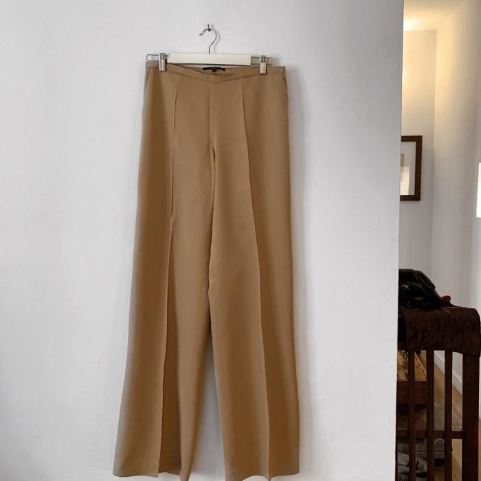 Pantalón seda marrón