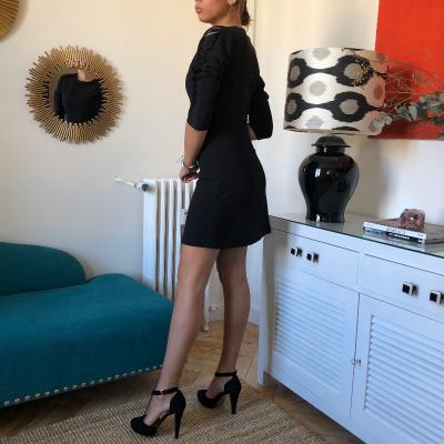 Vestido corto negro Best for less