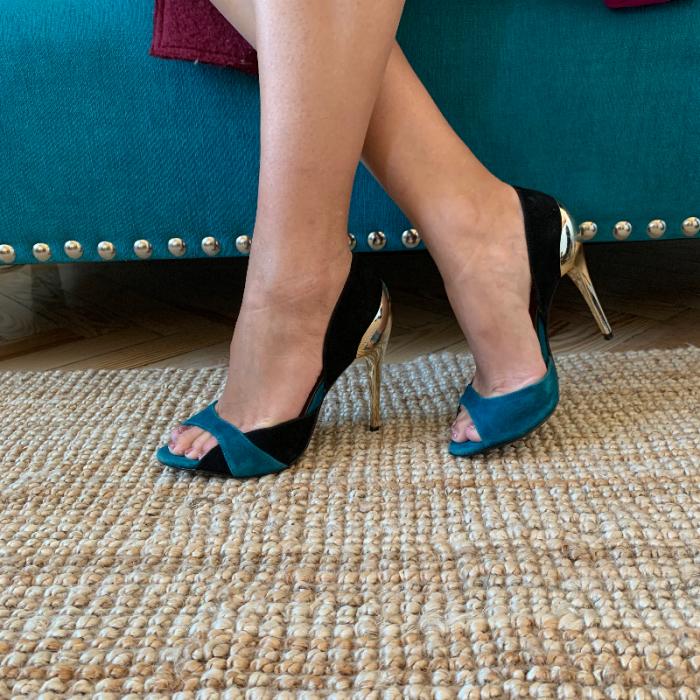 Zapato tacón bicolor
