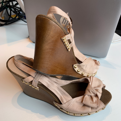 Cuñas nude lazo Best for less