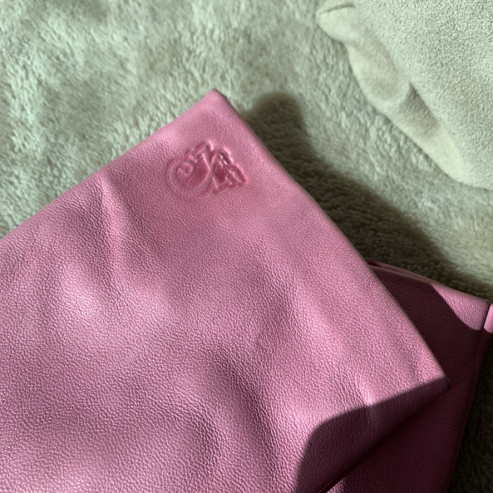 Guantes piel rosa
