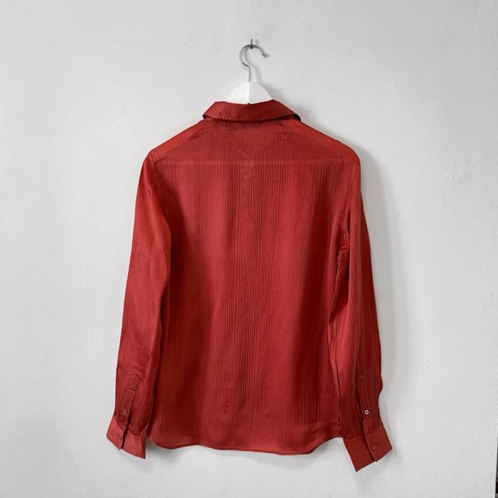 Camisa con efecto plisado