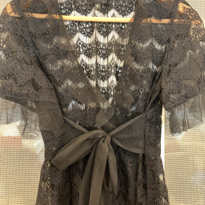 Vestido semitransparente