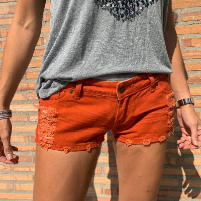 Short naranja Best for less