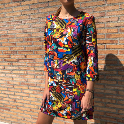 Vestido multicolor Best for less