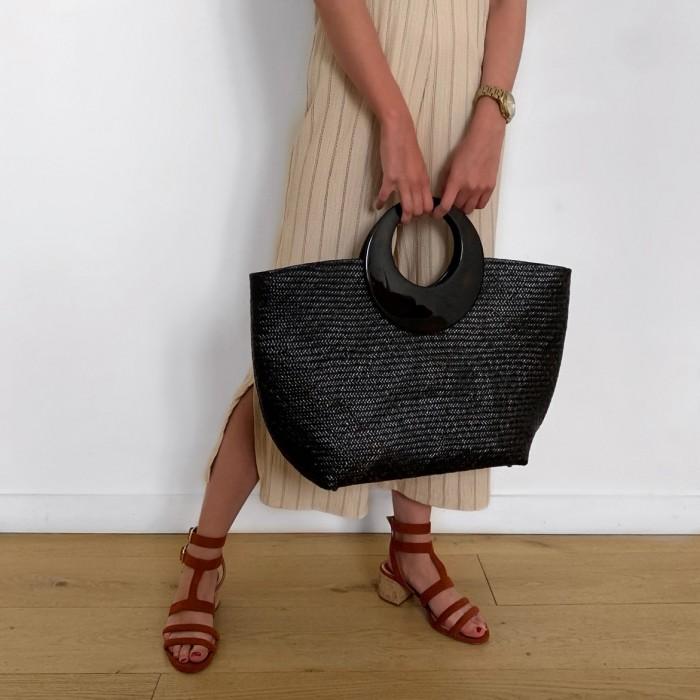 Shopper negro con carey