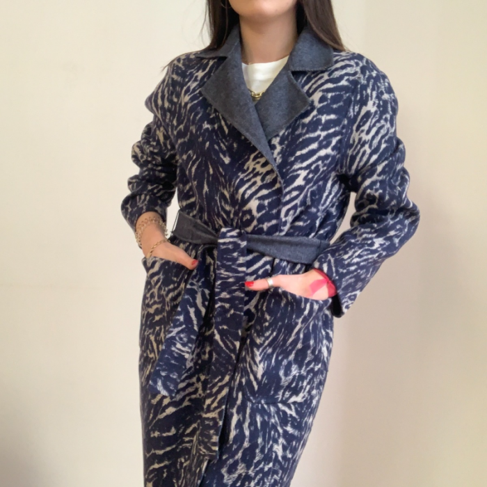 Abrigo lana reversible