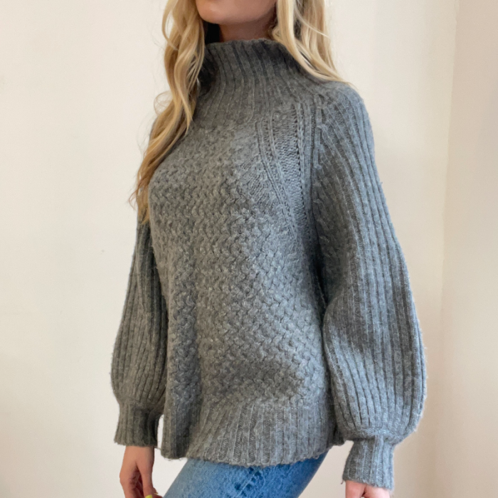 Jersey gris lana