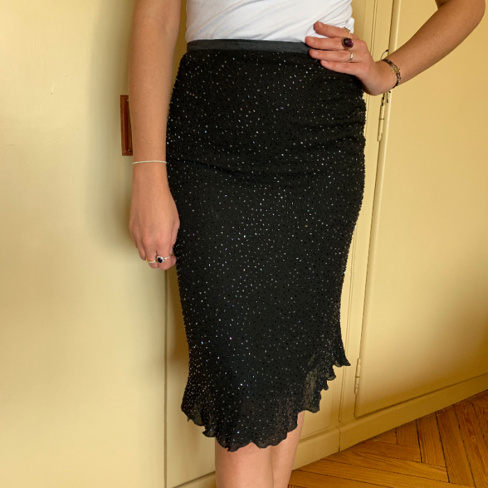 Falda apliques