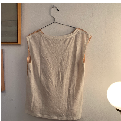 Camiseta metalizada
