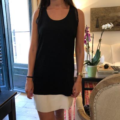 Vestido negro y blanco Best for less
