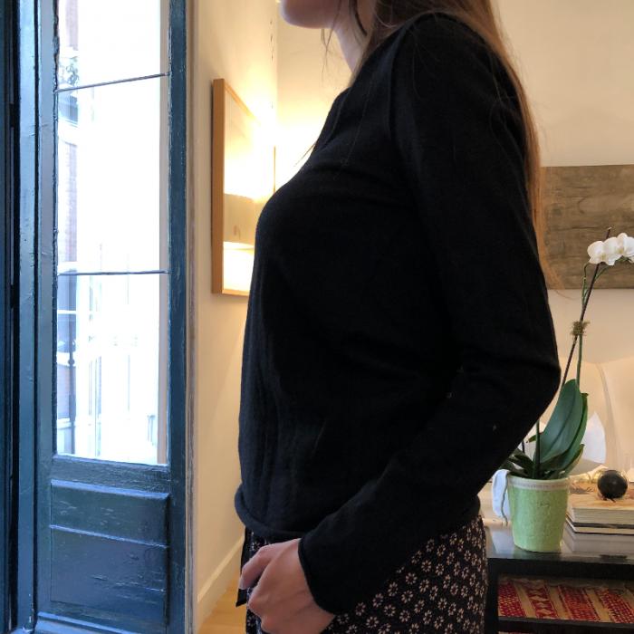 Jersey lana negro