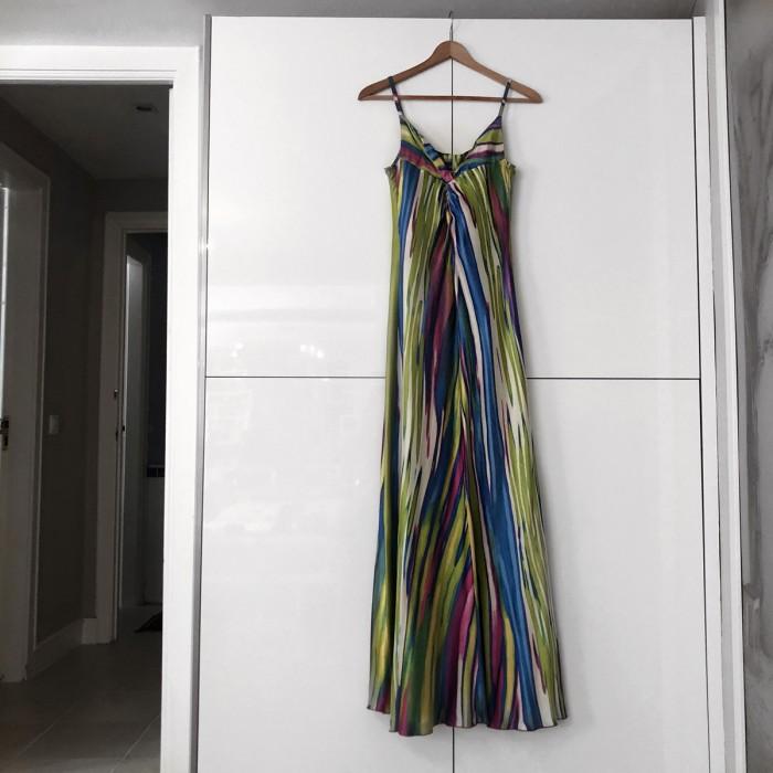 Vestido de noche multicolor
