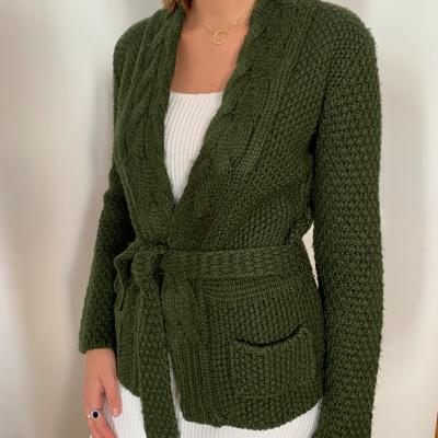 Cardigan verde lana Best for less