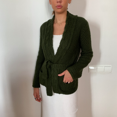 Cardigan verde lana Best for less