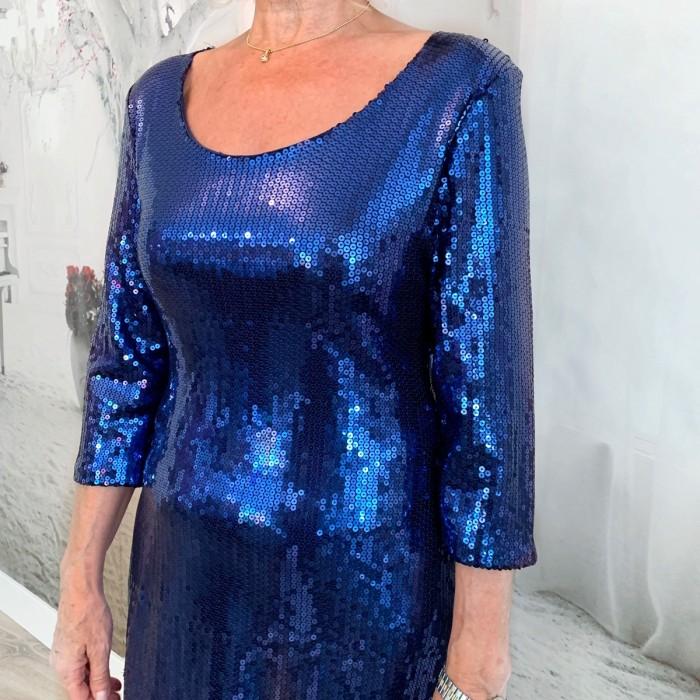 Vestido lentejuelas azul