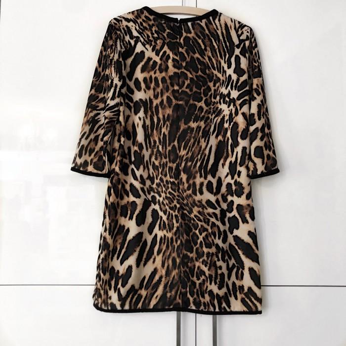 Vestido corto animal print