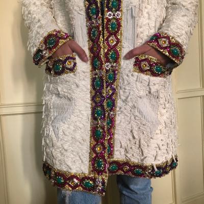 Abrigo blanco joya