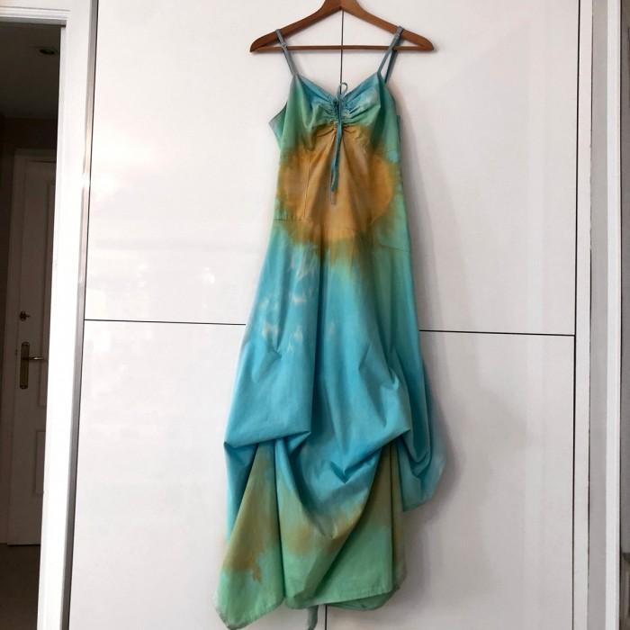 Vestido largo tie-dye